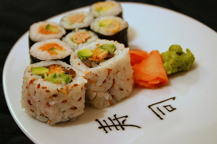 Sushi, maki - jap partie - boisson comprise