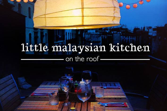 Authentic malaysian food on a private roof terrace in central barcelona!