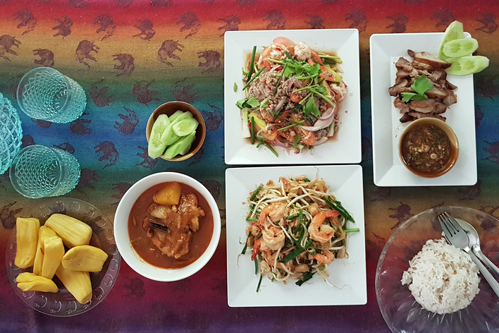 Authentic home cooked thai food