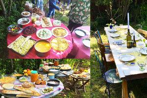 Cenas particulares como en su propia casa: Brunch au potager