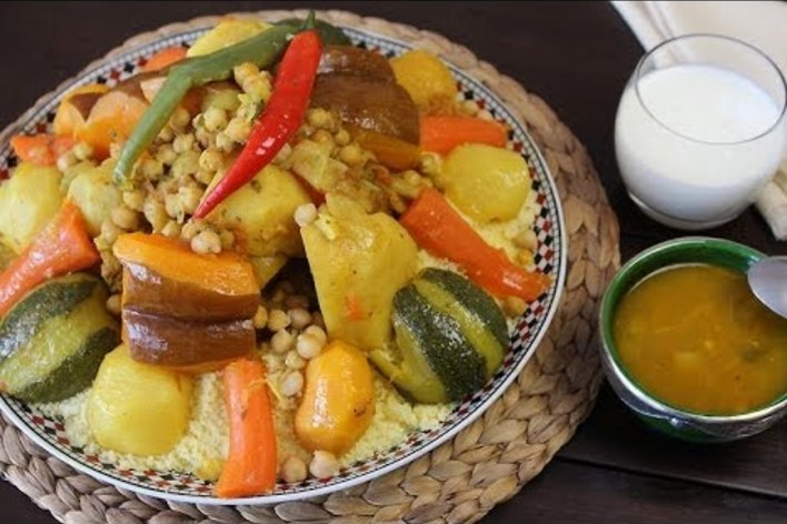 Moroccan home made couscous