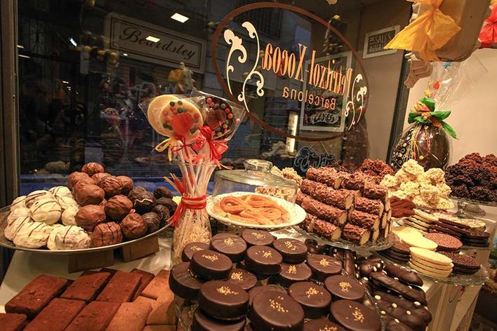 Degustation of barcelona's food