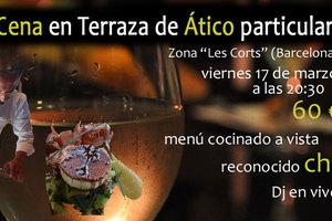 Eat with locals: Cena clandestina en terraza de ático en barcelona