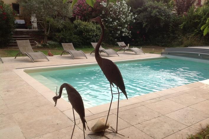 Apéritif dînatoire autour de la piscine