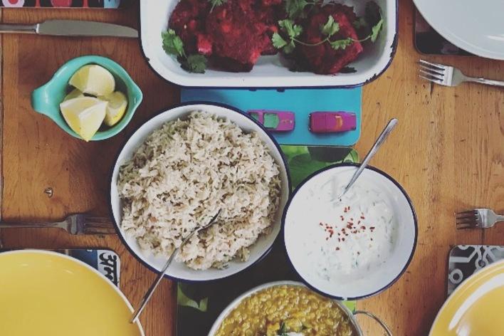 Multi cuisine vegetarian feast