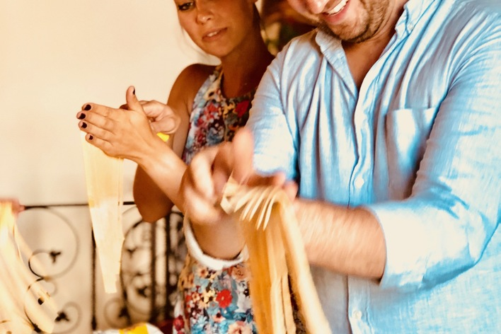 Cook and eat pasta tiramisù and polenta