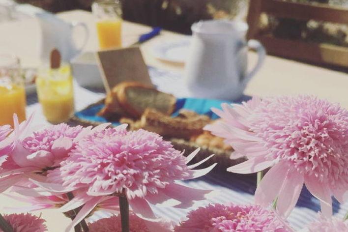 Cretan breakfast under the olive trees