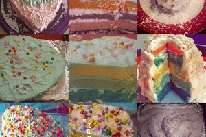 Eat with locals: Rainbow cake