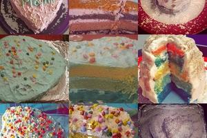 Manger chez l'habitant: Rainbow cake