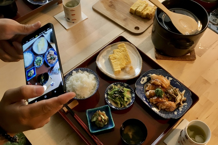 Traditionnel japanese cuisine in old-town