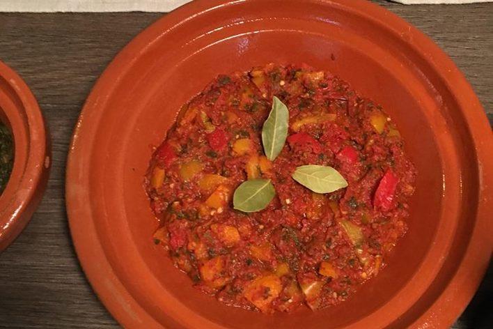 """Taste of morocco : """"rose desert"""" menu"""