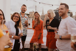 Eat with locals: 1 table rooftop restaurant