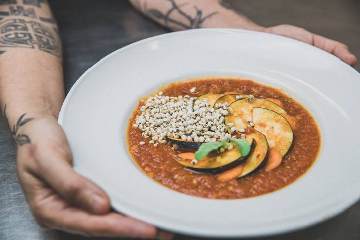 Portuguese vegan food with a chef