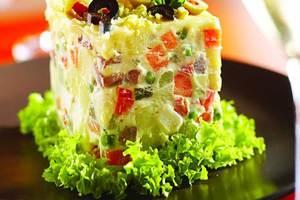 Cenas particulares como en su propia casa: Menu spécial fêtes (viande + légumes)